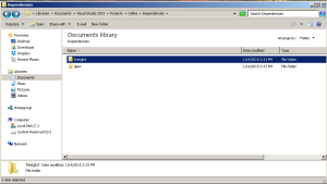freeGLUT and GLEW folders inside the Dependency folder